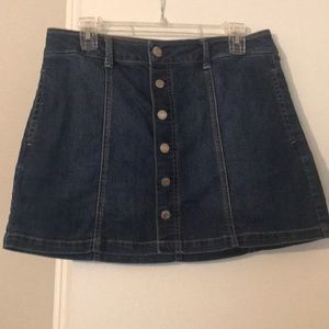 American Eagle Outfitters Mini Blue Jean Skirt